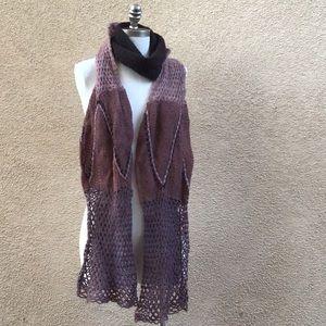 Anthro Lavender & Mauve Knit Scarf